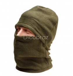 Балаклава зимняя (флис, зеленая) шапка-маска